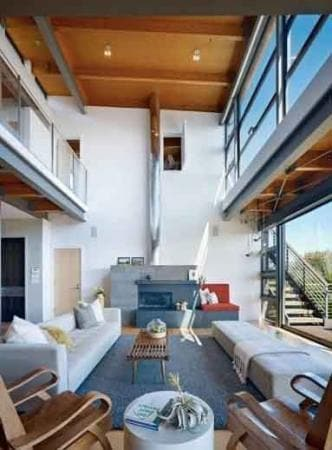 Natural Lighting Transforms Space in a Home