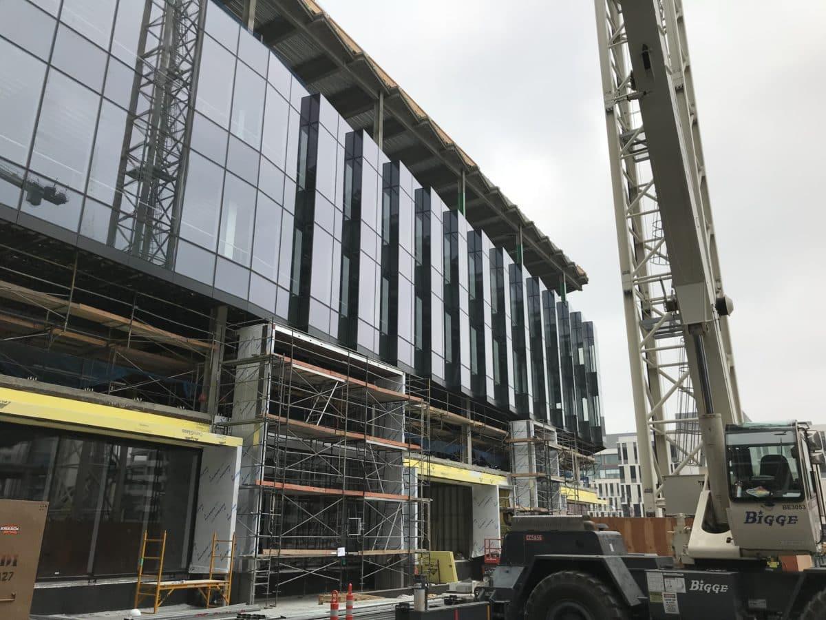 Progress Report: Glass Units Going Up