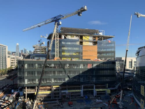 Construction Progress at Chase Center Office Towers